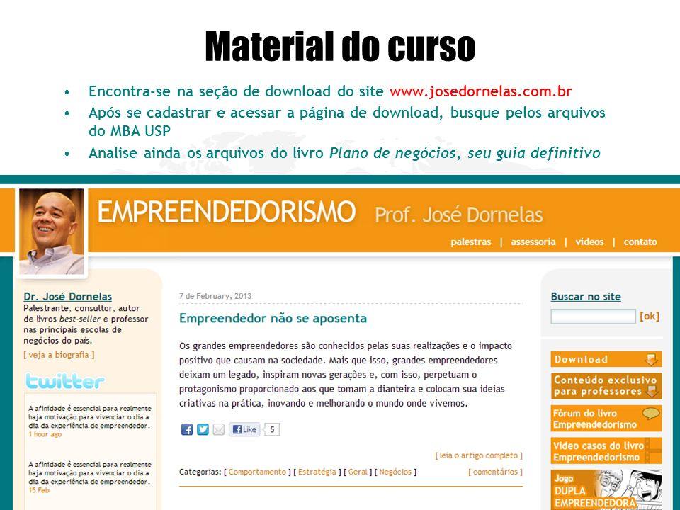 Copyright © www.josedornelas.com Material do curso Encontra-se na seção de download do site www.josedornelas.com.br Após se cadastrar e acessar a pági