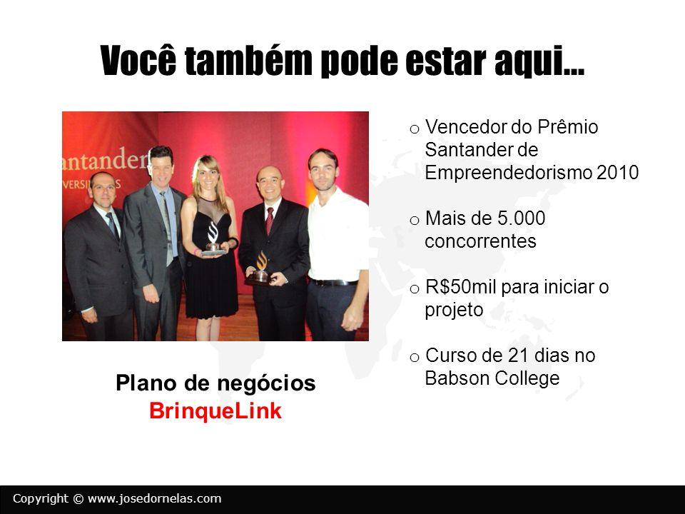 Copyright © www.josedornelas.com Você também pode estar aqui... o Vencedor do Prêmio Santander de Empreendedorismo 2010 o Mais de 5.000 concorrentes o