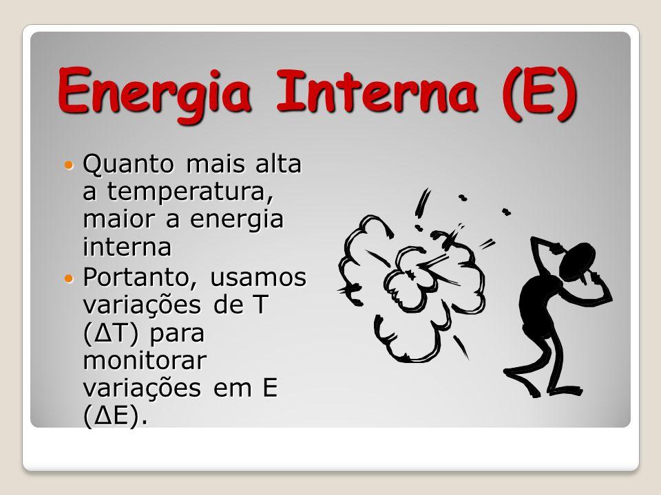 Energia Interna (E) EP + EC = Energia Interna (E ou U) EP + EC = Energia Interna (E ou U)