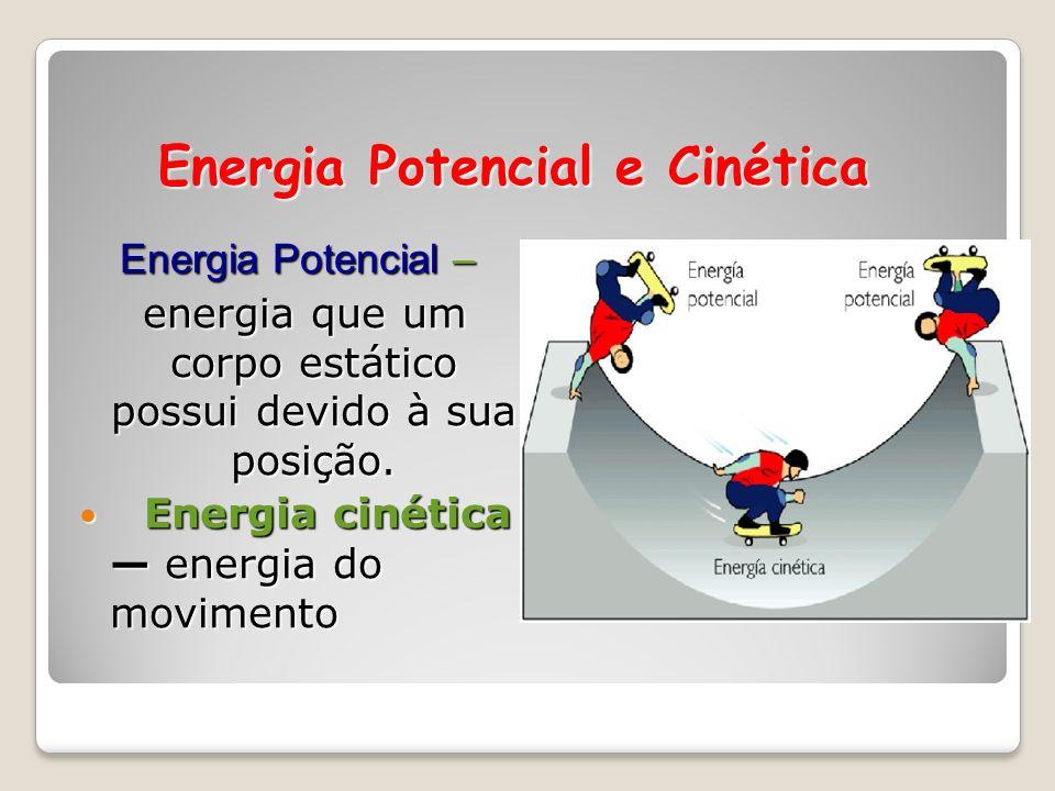 Energia e Química ENERGIA é a capacidade de realizar trabalho ou transferir calor. CALOR é a forma de energia que flui entre dois objetos devido à sua
