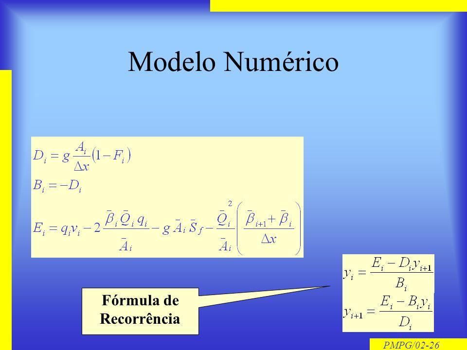 PMPG/02-25 Cálculo da Linha dágua