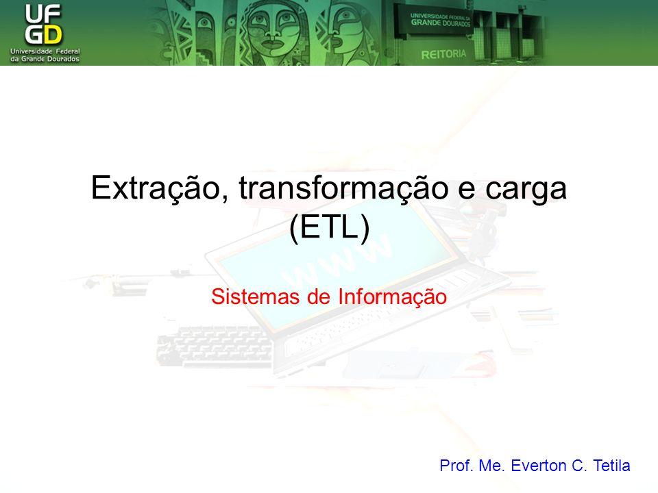 Extração, transformação e carga (ETL) Sistemas de Informação Prof. Me. Everton C. Tetila
