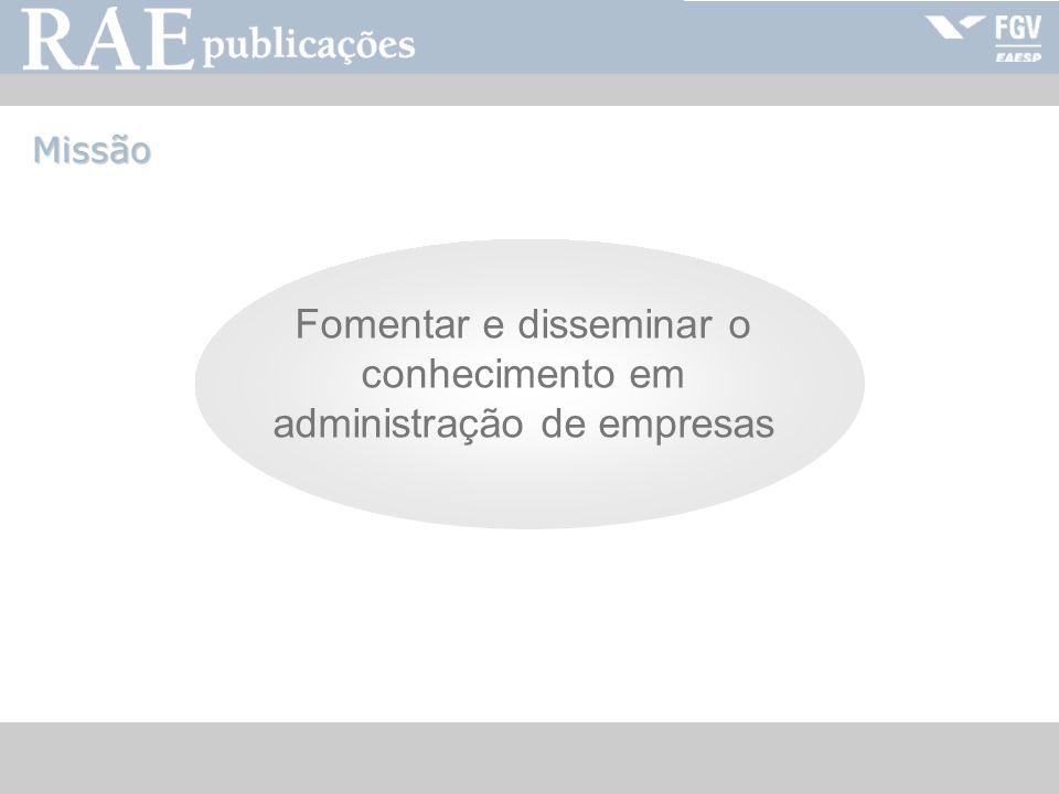 RAE-publicações Núcleo Conselho Editorial Parceiros Autores Terceiros Assinantes Ed.