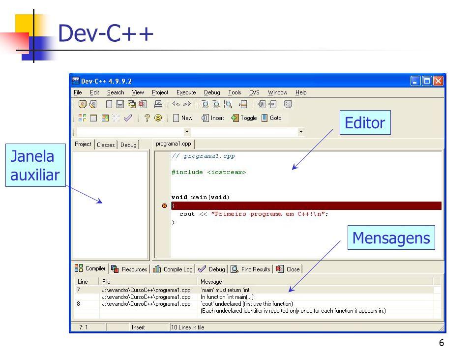 5 Introdução C++ é uma linguagem padronizada (ANSI/ISO) Organização e comandos da liguagem. Bibliotecas (entrada/saida, matemática, STL, etc.) Indepen