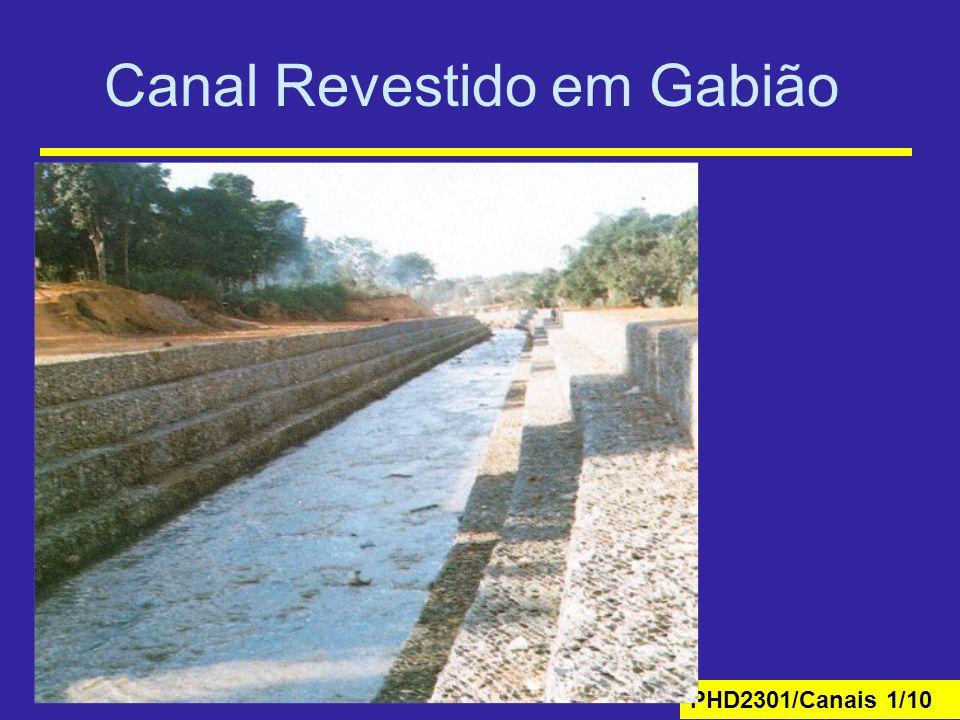 PHD2301/Canais 1/10 Canal Revestido em Gabião