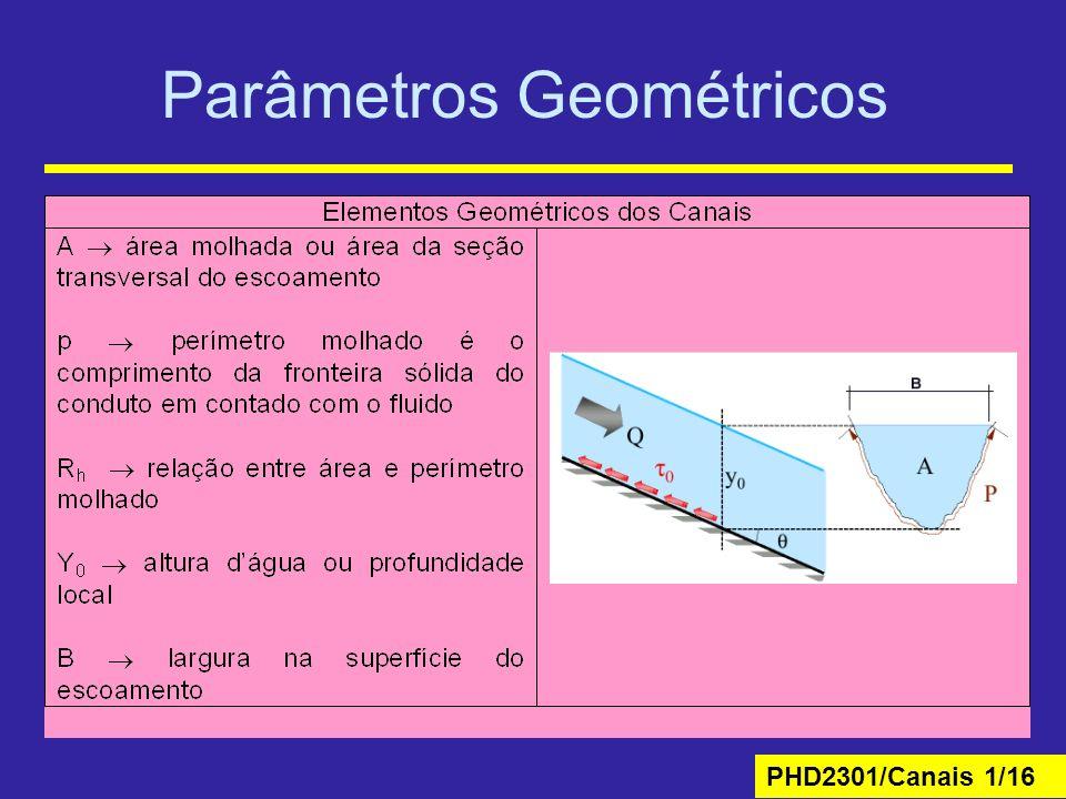 PHD2301/Canais 1/16 Parâmetros Geométricos