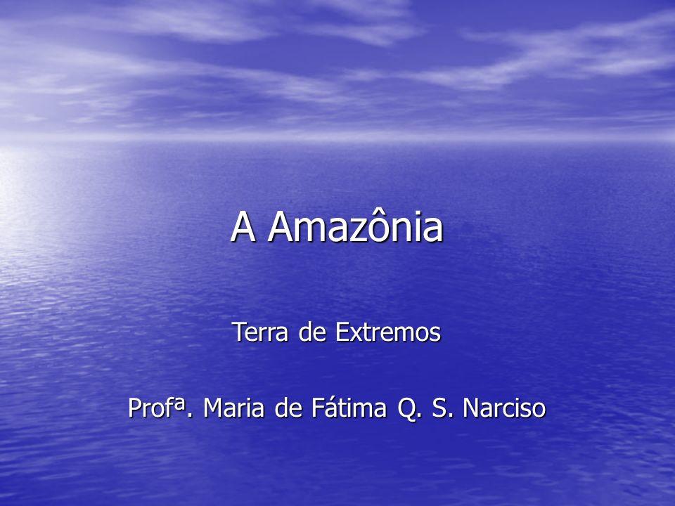 A Amazônia Terra de Extremos Profª. Maria de Fátima Q. S. Narciso