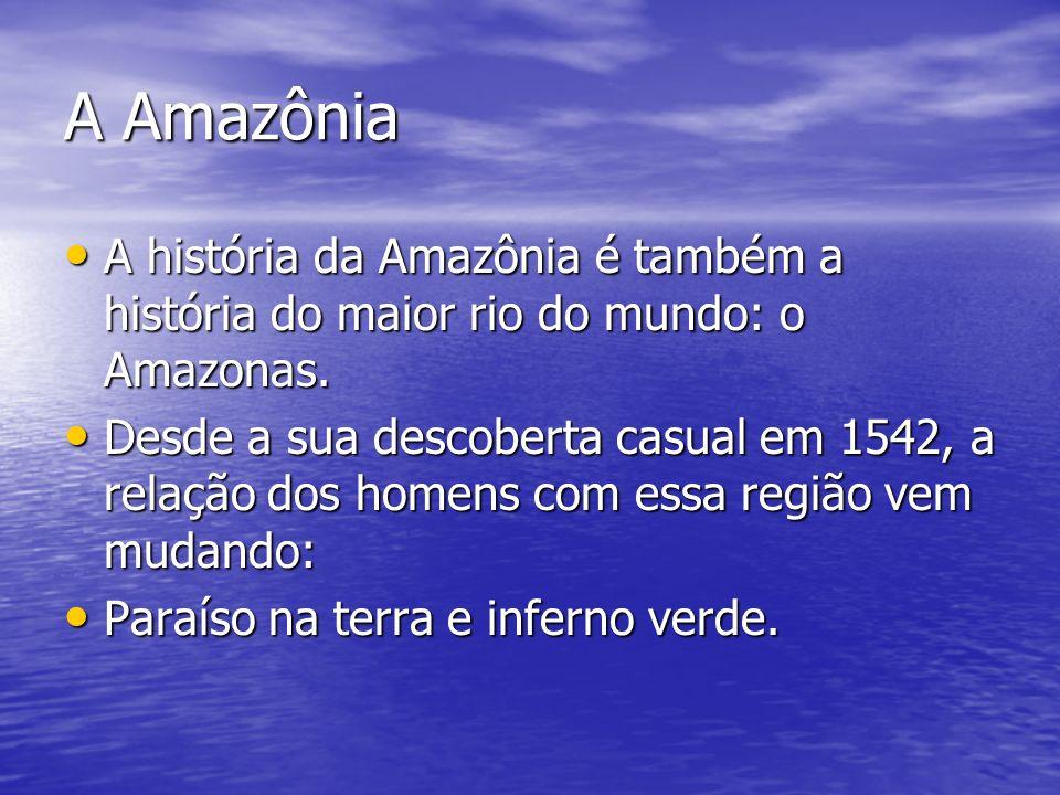 A Amazônia A história da Amazônia é também a história do maior rio do mundo: o Amazonas. A história da Amazônia é também a história do maior rio do mu