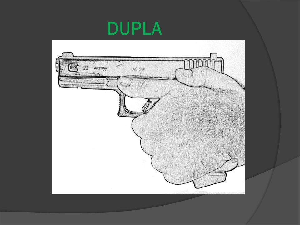 SIMPLES - Ajustar a empunhadura; - Encontrar o ângulo exato entre os dedos polegar e indicador; - Envolver a coronha de modo firme, porém não excessiv