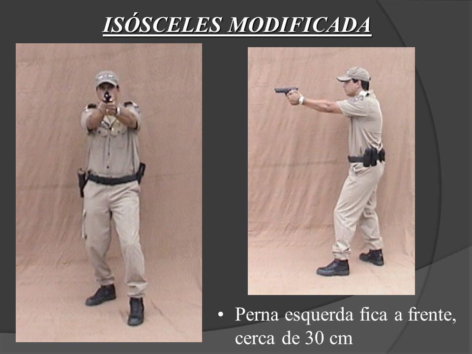 SAQUE DA ARMA Posição 4 (Disparo) Pressionar gradualmente o gatilho, sem perder a atenção do aparelho de pontaria com o alvo.