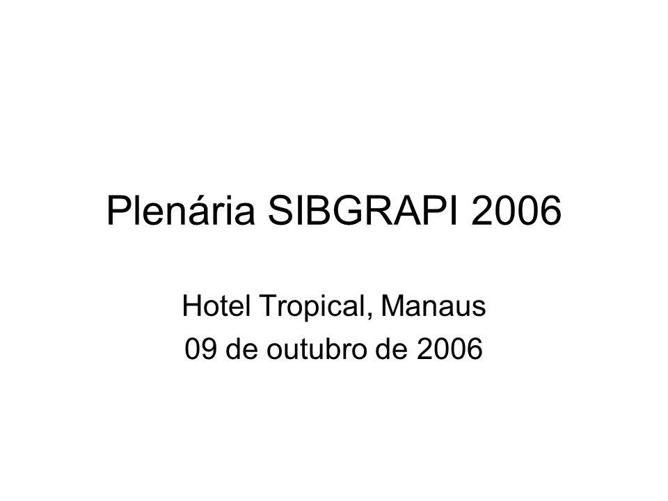 Plenária SIBGRAPI 2006 Hotel Tropical, Manaus 09 de outubro de 2006