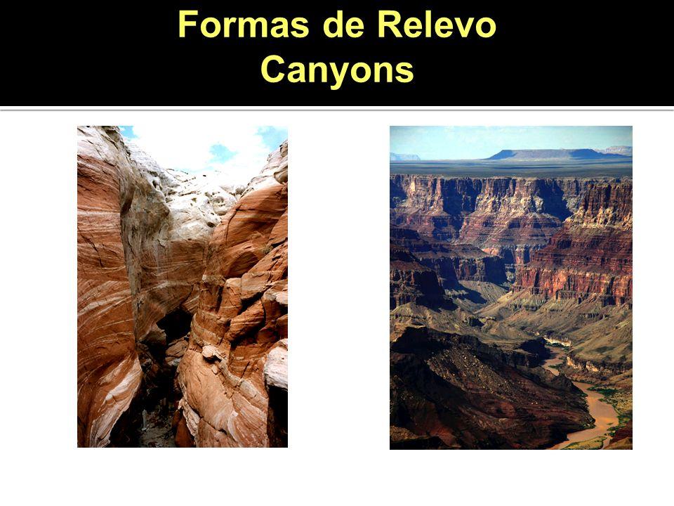 Formas de Relevo Canyons