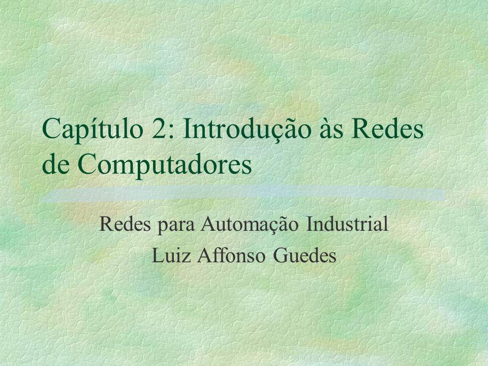 Capítulo 2: Introdução às Redes de Computadores Redes para Automação Industrial Luiz Affonso Guedes