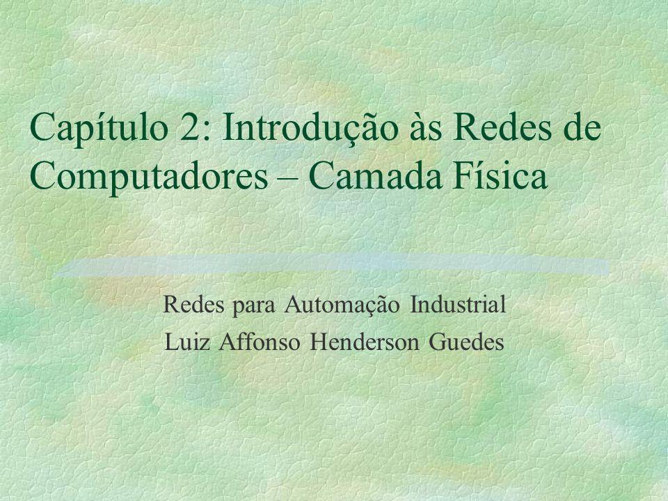 Capítulo 2: Introdução às Redes de Computadores – Camada Física Redes para Automação Industrial Luiz Affonso Henderson Guedes