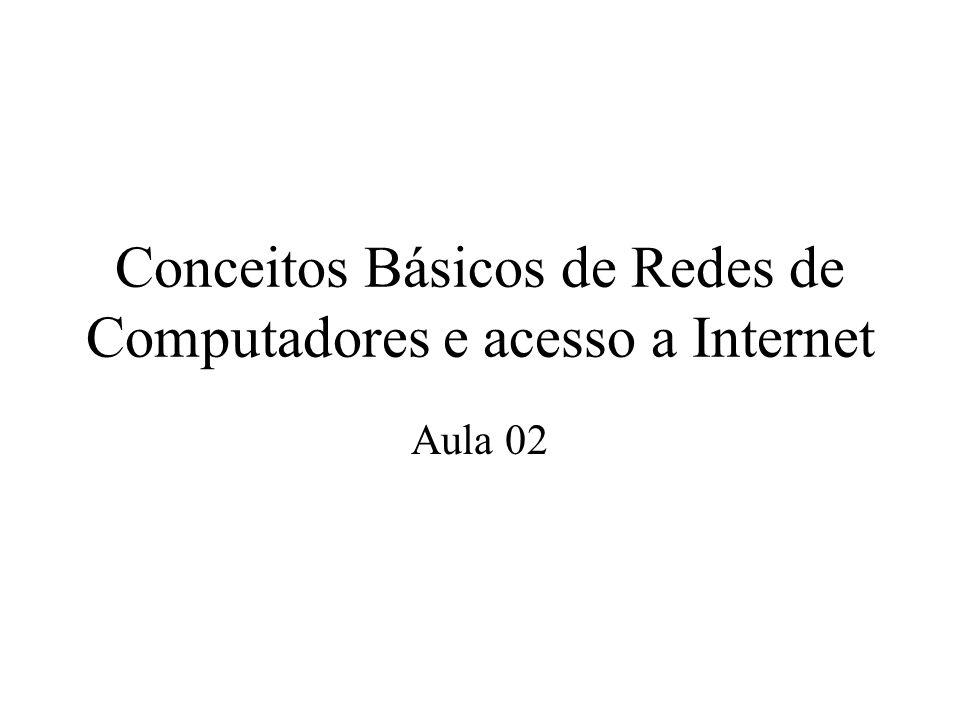 Conceitos Básicos de Redes de Computadores e acesso a Internet Aula 02