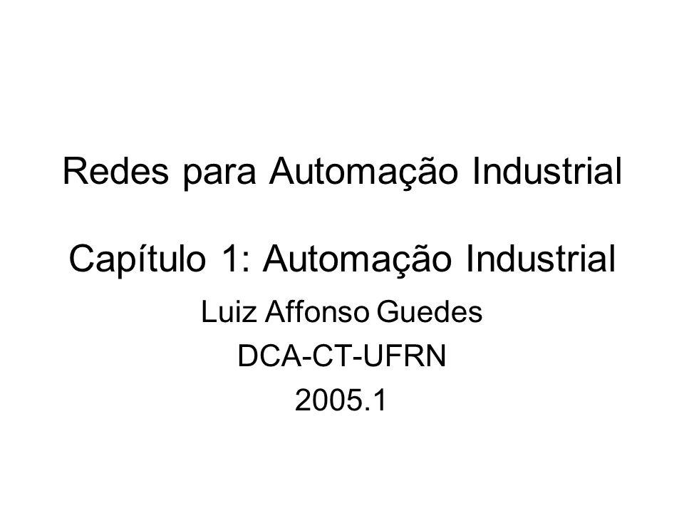 Redes para Automação Industrial Capítulo 1: Automação Industrial Luiz Affonso Guedes DCA-CT-UFRN 2005.1