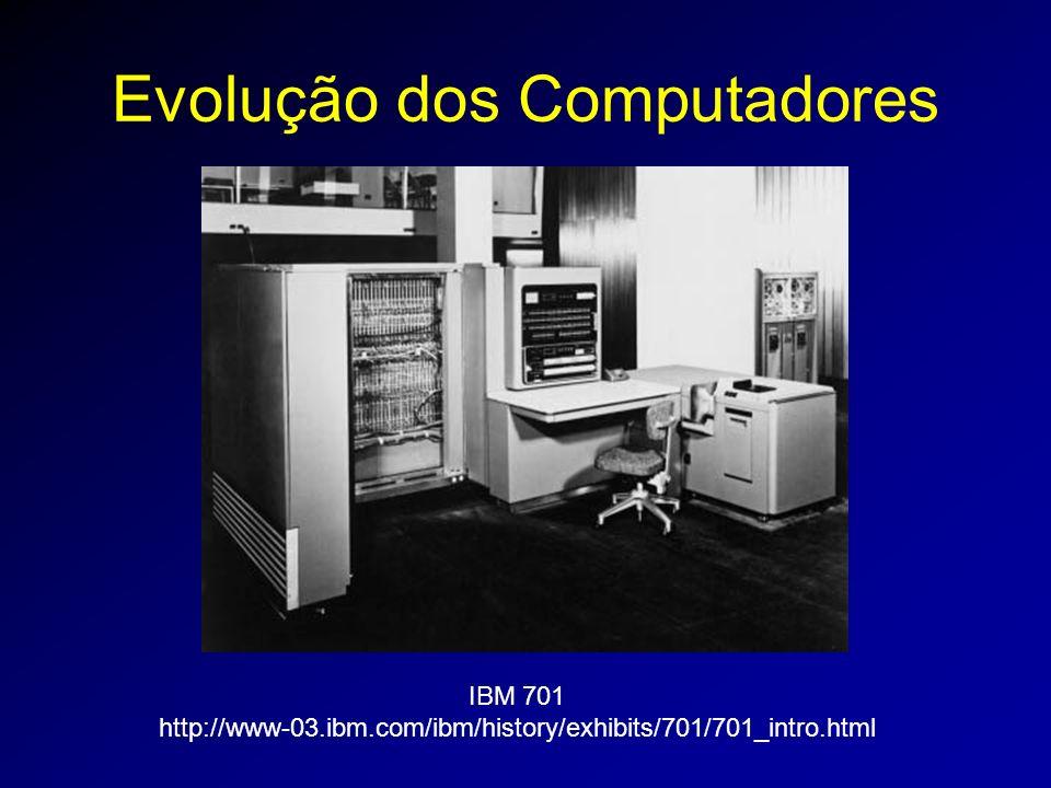 Evolução dos Computadores IBM 701 http://www-03.ibm.com/ibm/history/exhibits/701/701_intro.html