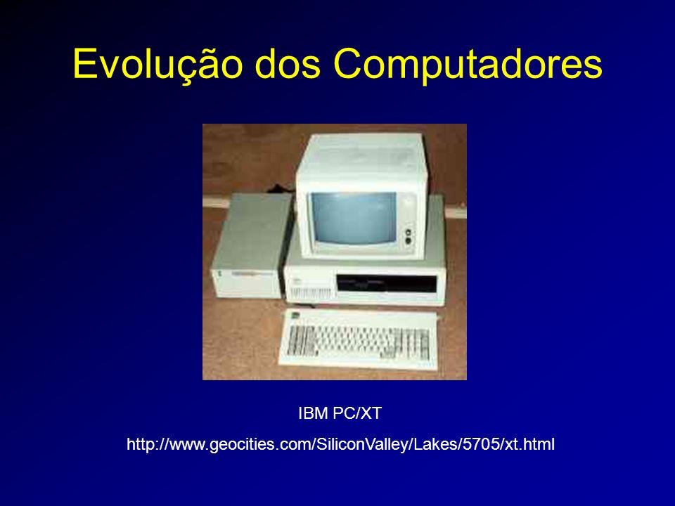 Evolução dos Computadores IBM PC/XT http://www.geocities.com/SiliconValley/Lakes/5705/xt.html