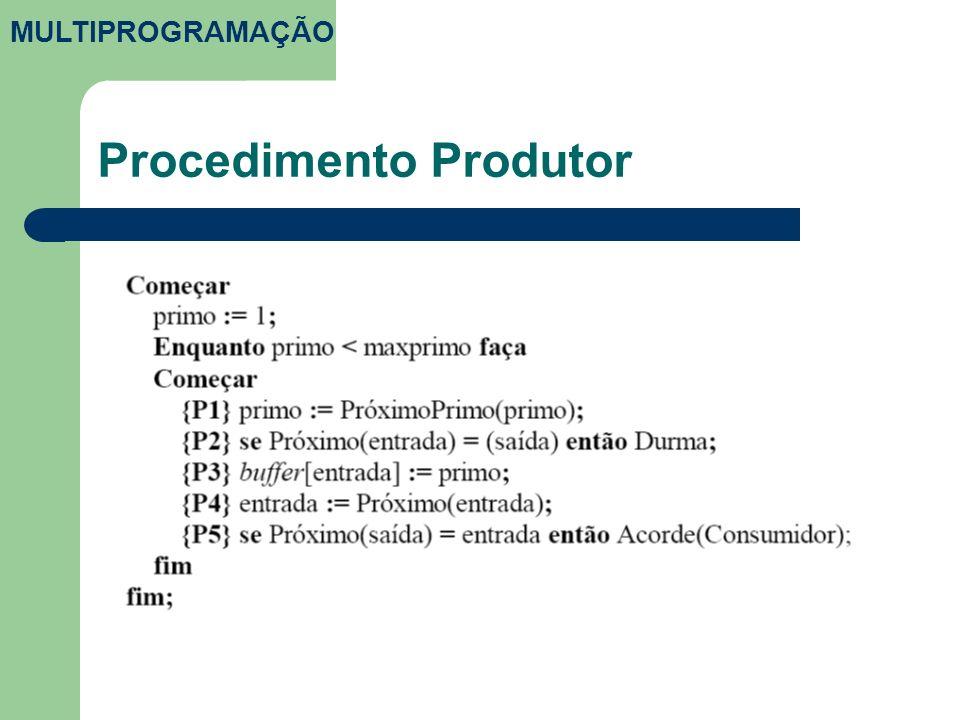 Procedimento Produtor MULTIPROGRAMAÇÃO
