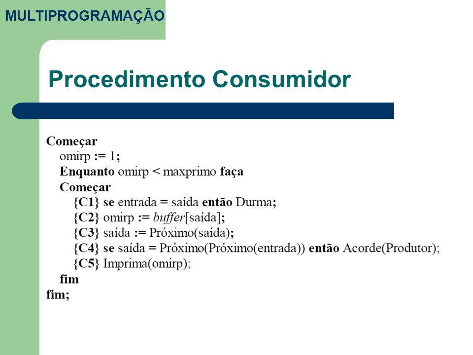 Procedimento Consumidor MULTIPROGRAMAÇÃO