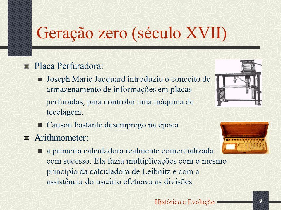 10 Máquina Diferencial de Babbage: O matemático Babbage construiu um modelo para calcular tabelas de funções (logaritmos, funções trigonométricas, etc.) sem a intervenção de um operador humano, que chamou de Máquina das diferenças; Sua única operação era a adição, mas realizava um largo número de funções úteis pela técnica de diferenças finitas.