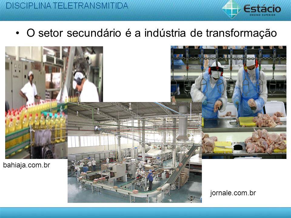 O setor secundário é a indústria de transformação bahiaja.com.br jornale.com.br