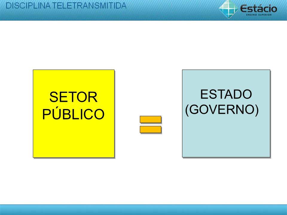 SETOR PÚBLICO ESTADO (GOVERNO) ESTADO (GOVERNO)