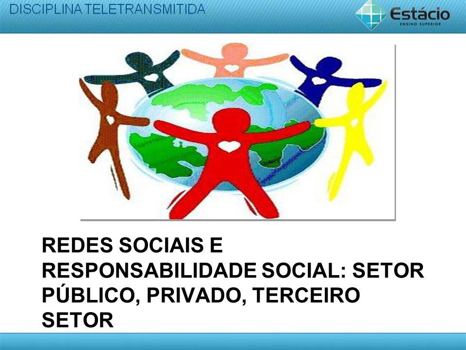 REDES SOCIAIS E RESPONSABILIDADE SOCIAL: SETOR PÚBLICO, PRIVADO, TERCEIRO SETOR