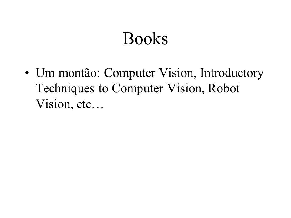 Books Um montão: Computer Vision, Introductory Techniques to Computer Vision, Robot Vision, etc…