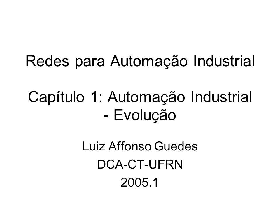 Redes para Automação Industrial Capítulo 1: Automação Industrial - Evolução Luiz Affonso Guedes DCA-CT-UFRN 2005.1