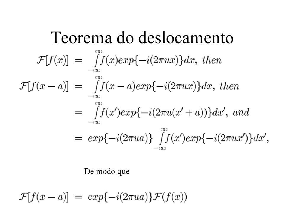 Teorema do deslocamento De modo que