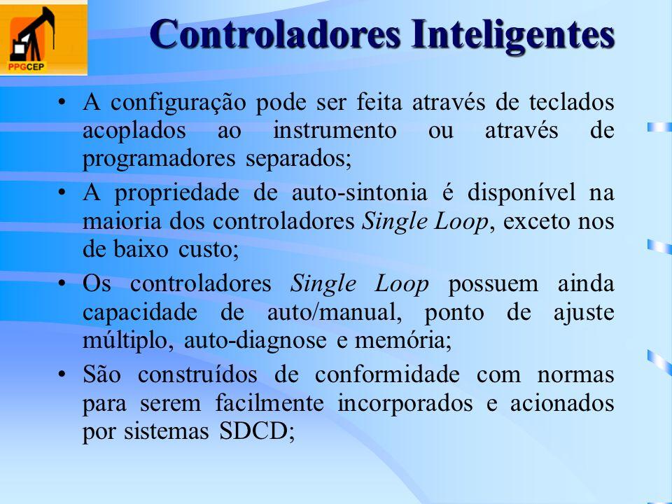 A configuração pode ser feita através de teclados acoplados ao instrumento ou através de programadores separados; A propriedade de auto-sintonia é dis