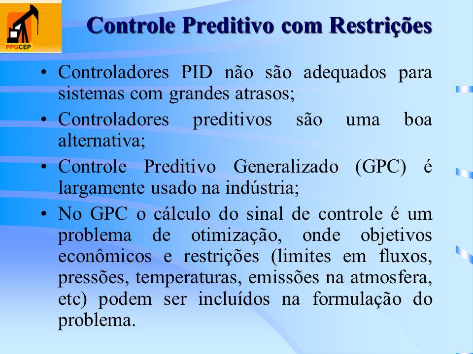 Controladores PID não são adequados para sistemas com grandes atrasos; Controladores preditivos são uma boa alternativa; Controle Preditivo Generaliza