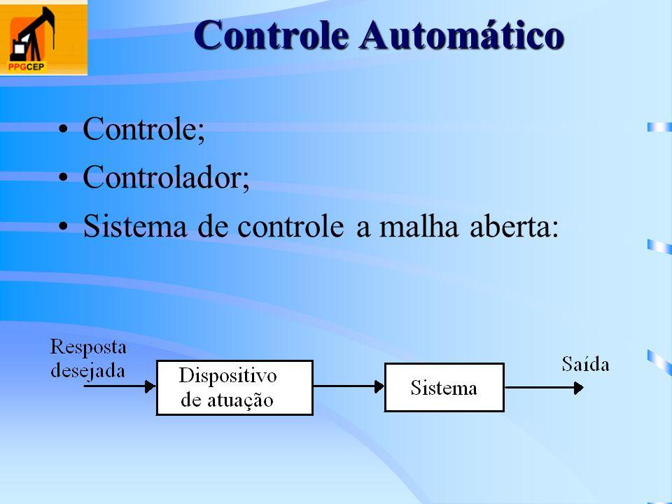 Controle Automático Controle; Controlador; Sistema de controle a malha aberta: