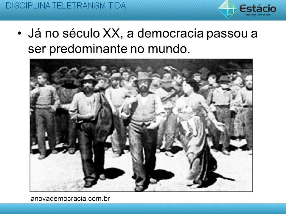 Frase Exemplo: No Brasil atual existe democracia.