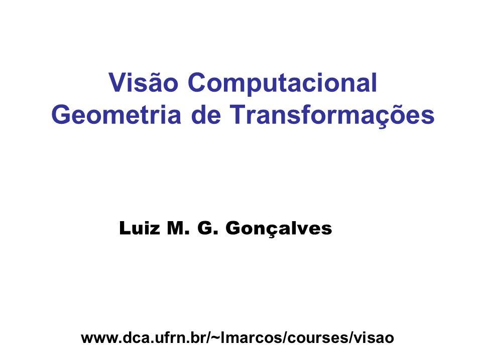 www.dca.ufrn.br/~lmarcos/courses/visao Visão Computacional Geometria de Transformações Luiz M. G. Gonçalves
