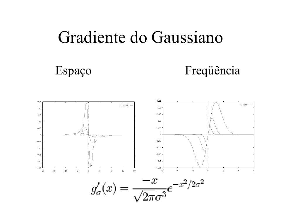 Gradiente do Gaussiano Espaço Freqüência