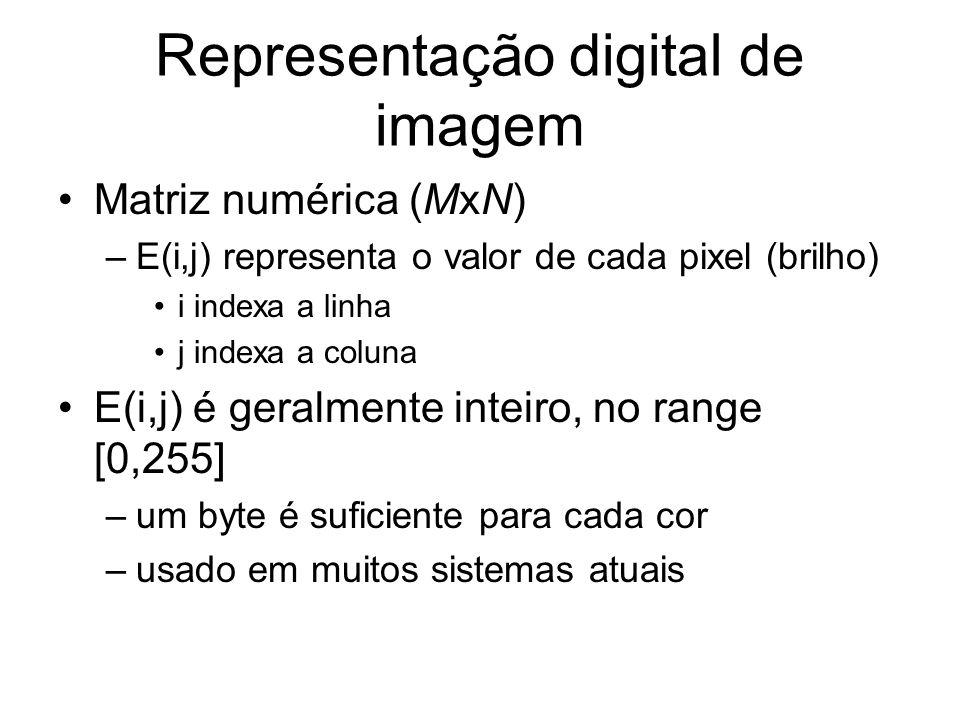 Do CCD para o frame buffer Número de elementos em cada lado do CCD é geralmente diferente da dimensão em pixels do Frame buffer.