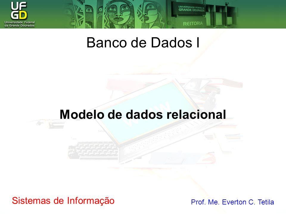 Sistemas de Informação Prof. Me. Everton C. Tetila Modelo de dados relacional Banco de Dados I