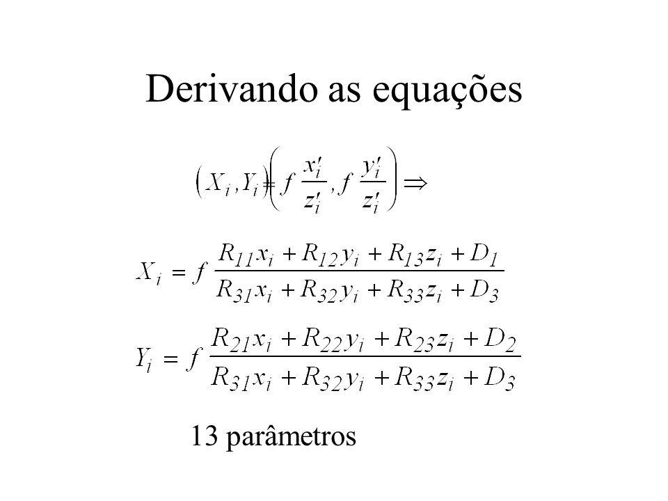 Derivando as equações 13 parâmetros =