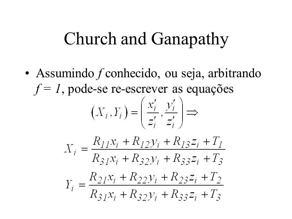 Church and Ganapathy Assumindo f conhecido, ou seja, arbitrando f = 1, pode-se re-escrever as equações