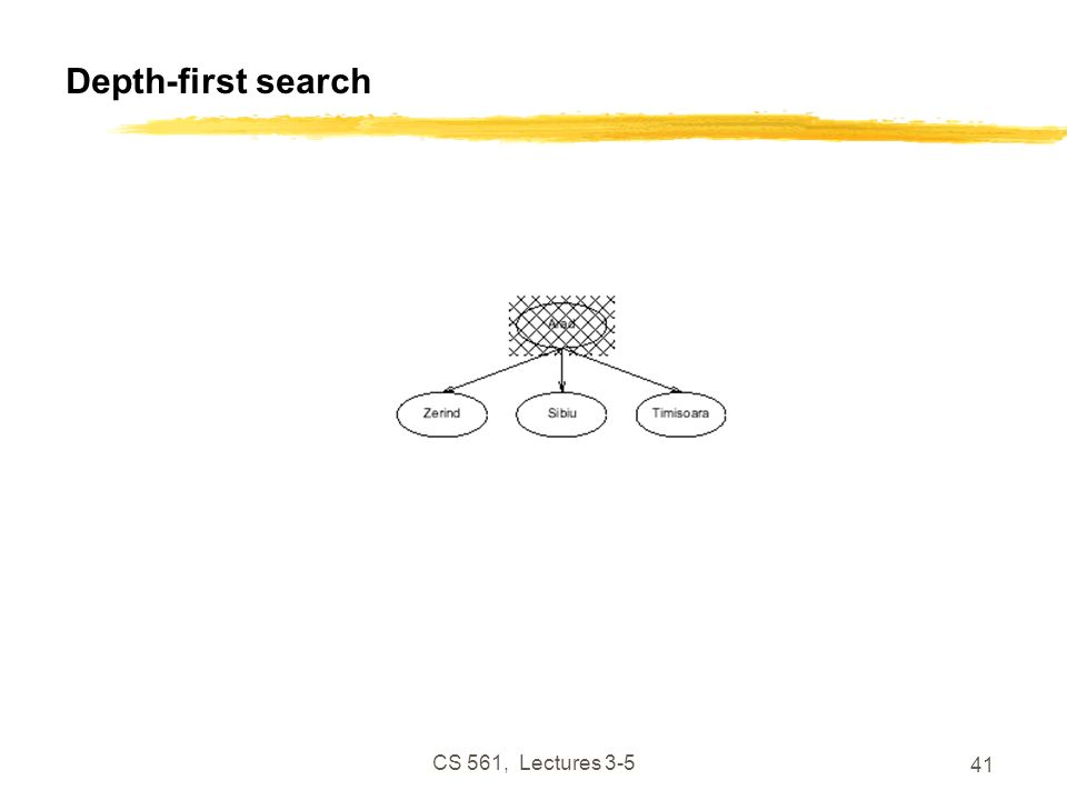 CS 561, Lectures 3-5 41 Depth-first search