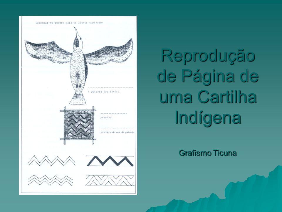 Reprodução de Página de uma Cartilha Indígena Grafismo Ticuna