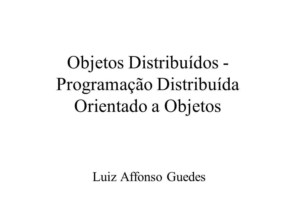 Objetos Distribuídos - Programação Distribuída Orientado a Objetos Luiz Affonso Guedes