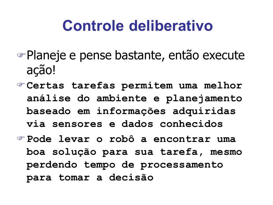 Controle deliberativo F Planeje e pense bastante, então execute ação.