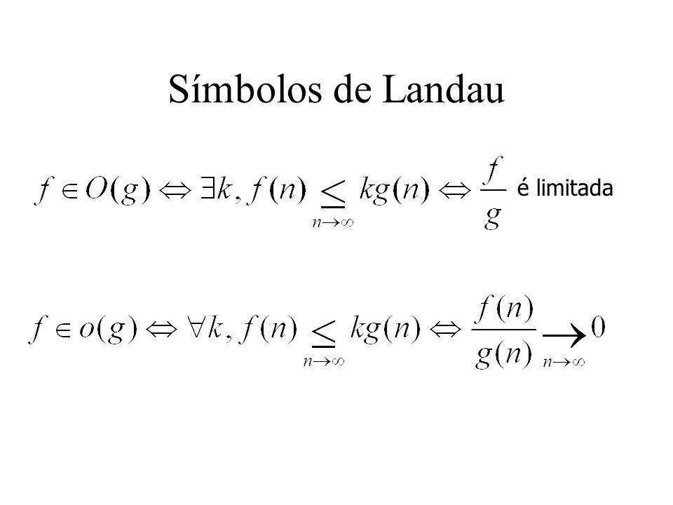 Símbolos de Landau é limitada
