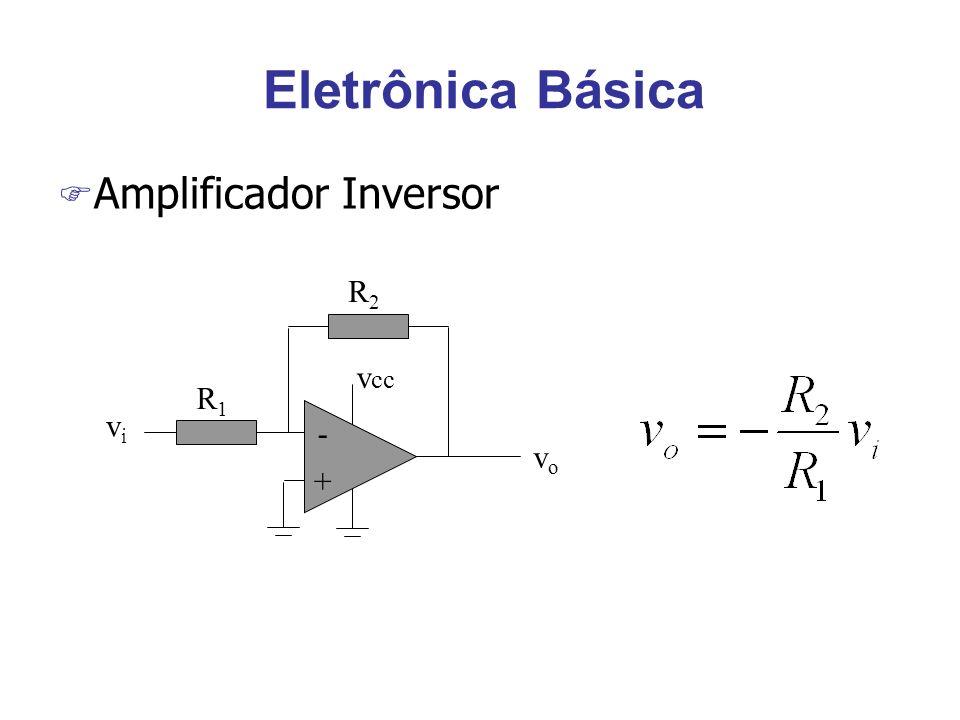 Sensores de temperatura (diodo) F Diodo de silício, polarizado diretamente com corrente de 1mA, tem queda de tensão próxima de 0.62V, a 25oC.