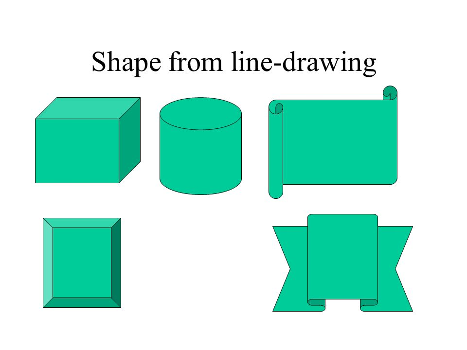 Shape from line-drawing