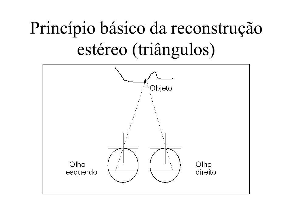 Princípio básico da reconstrução estéreo (triângulos)