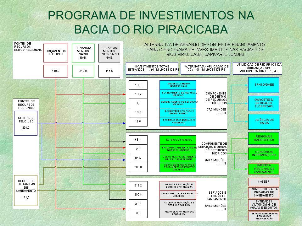 PROGRAMA DE INVESTIMENTOS NA BACIA DO RIO PIRACICABA